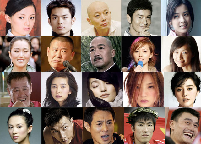 Forbes Most Powerful Chinese Celebrity List (2009)